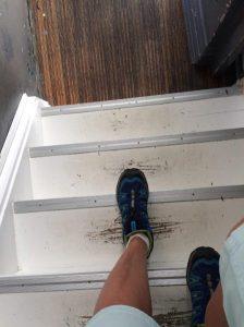Kleine Treppenstufen in Holland