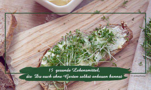 15 gesunde Lebensmittel, die Du auch ohne Garten selbst anbauen kannst